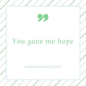 you gave me hope